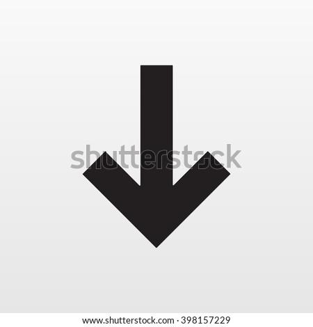 Arrow down vector. Downgrade icon. Trendy symbol for website design, web button. Logo illustration.