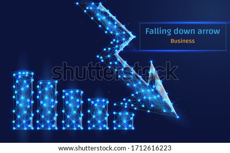 arrow down which means falling