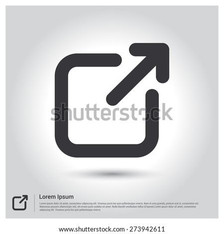 Arrow Expand Icon, Full Scree icon. screen Scale icon. pictogram icon on gray background. mobile application. Simple flat metro design style. Outline Icon. Flat design style. Vector illustration