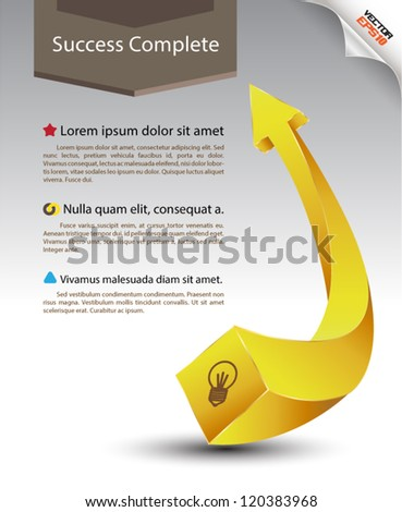 arrow go to success / movement / can use for brochure / printing advertising