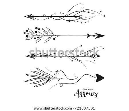 doodle decorative arrow vectors download free vector art stock