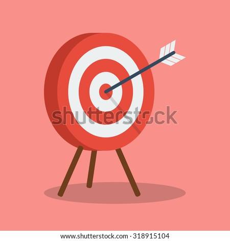 arrow hitting target. business...