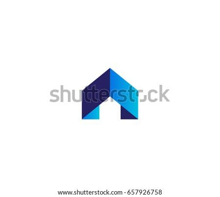 Arrow house vector logo