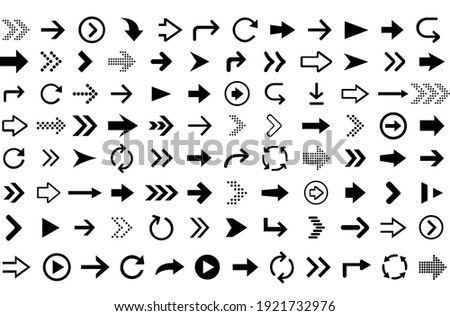 Arrow icon  big set. Arrow collection. Vector illustration EPS 10.