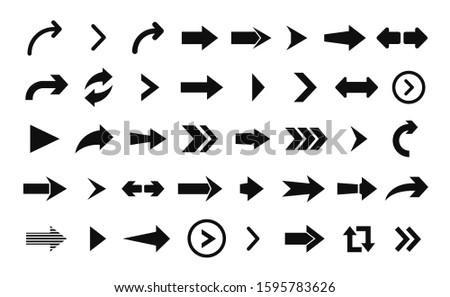 Arrow icon. Big set of vector flat arrows for web design, mobile apps, interface and more.