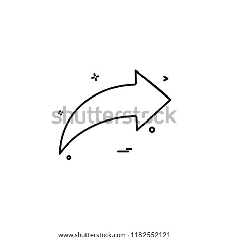 arrow icon direction left vector