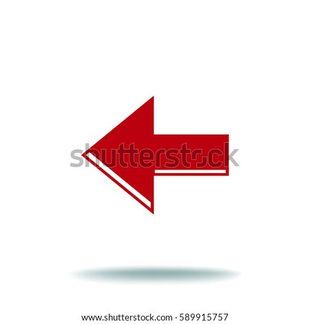 Arrow Icon in trendy flat style isolated. Arrow symbol for your web site design, logo, app, UI. Vector illustration, EPS10.