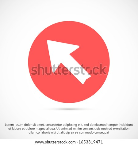 Arrow Icon in trendy flat style isolated on grey background. Arrow symbol for your web site design, logo, app, UI. Vector illustration, EPS10.