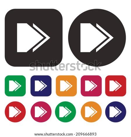 Arrow icon / isolated arrow icon / Vector