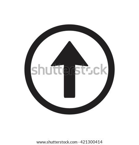 Arrow  icon,  isolated. Flat  design.