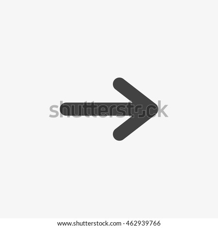 Arrow icon isolated on the white background. #462939766