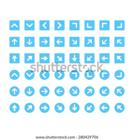 Arrow Icon set - Shutterstock ID 280429706