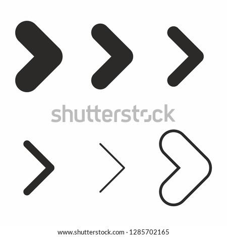 Arrow icon set navigation sign vector