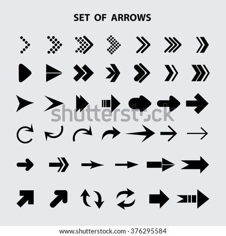 Arrow icon,set of arrows #376295584