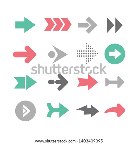 Arrow icon,set of arrows vector #1403409095