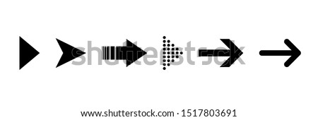 Arrow icon. Set of black isolated vector icon. Arrow. Vector arrows collection. EPS 10