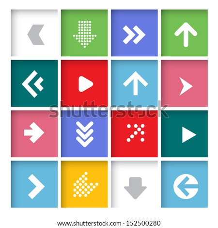 Arrow icon set. Vector.