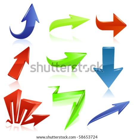 Arrow icon set 6. Vector