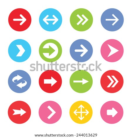 Arrow icon set. Vector illustration #244013629