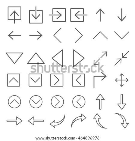 Arrow Icon Set Vector Illustration #464896976