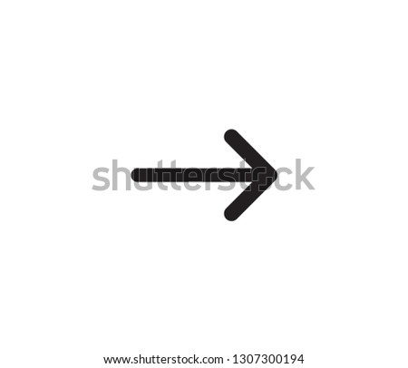 arrow icon vector #1307300194