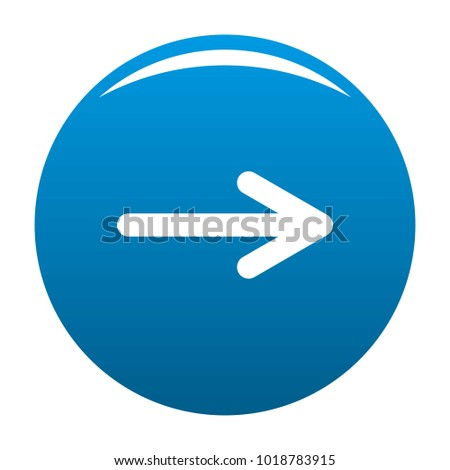 Arrow icon vector blue circle isolated on white background