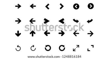 Arrow icon vector collection symbol isolated. Vector illustration. Vector icon illustration isolated on white background.