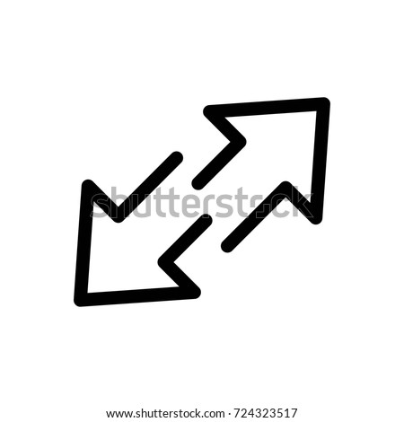 arrow icon vector fat design