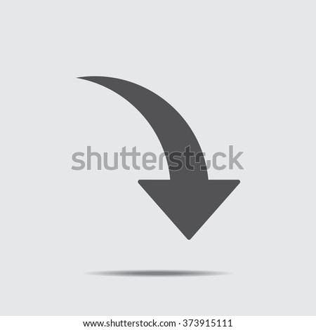 arrow Icon vector flat design