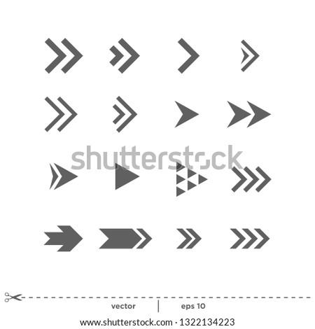 Arrow Icon Vector Logo template #1322134223