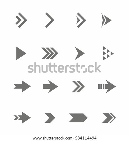 Arrow Icon vector Set