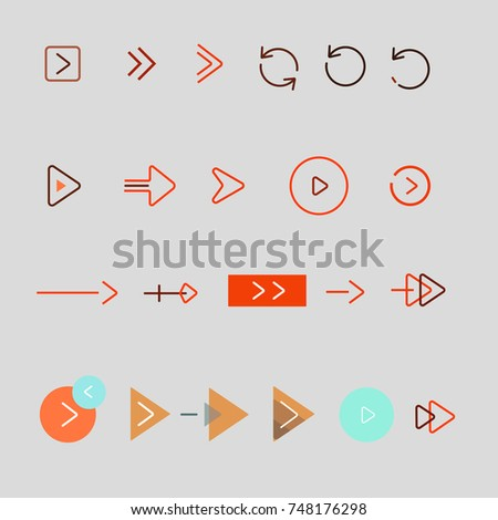 Arrow Icon vector Set Set of arrows for web design Set of navigation for a site
