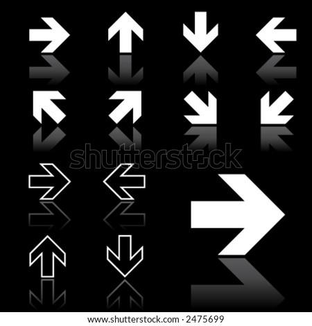 arrow icons (dark version)