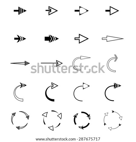 Arrow icons difference shape. Web icons #287675717