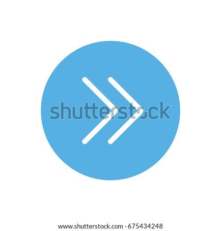 Arrow icons - double arrow right (Flat Style)
