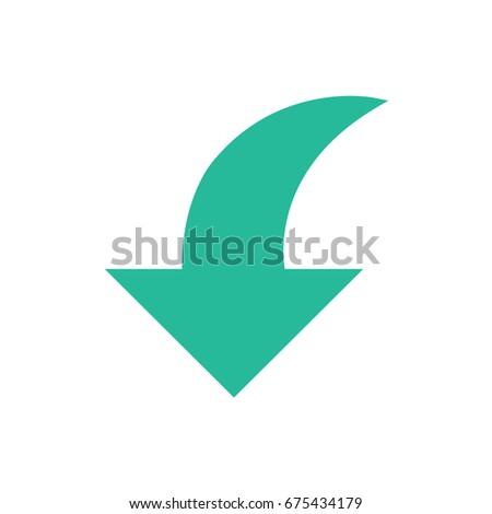 Arrow icons - downward arrow (Flat Style)