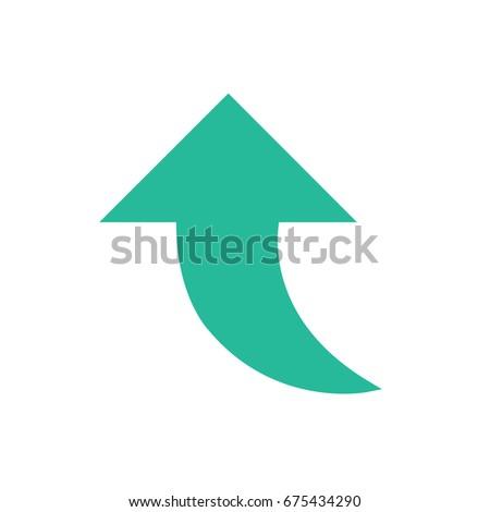 Arrow icons - upward arrow (Flat Style)