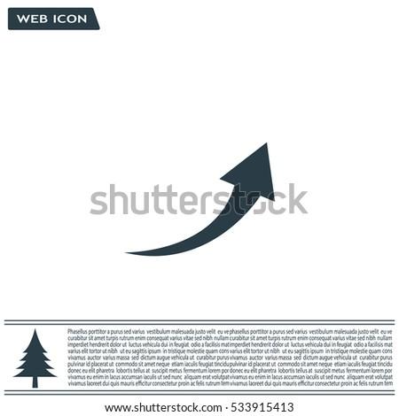 arrow indicates the direction. icon. vector design