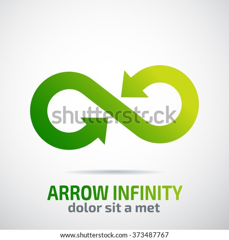 Arrow infinity business vector logo symbol design template for your design.