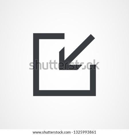 Arrow Inside Square, arrow icon. Vector illustration