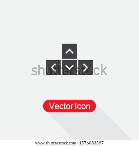 Arrow Keyboard Icon Vector Illustration Eps10