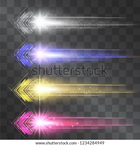 stock-vector-arrow-laser-glow-vector-illumination-set-motion-effect-light-blinking-on-transparent-background