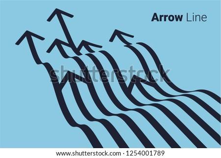 Arrow line graphic design  ストックフォト ©