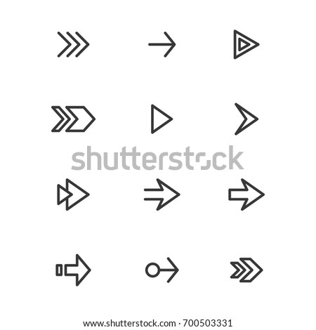 Arrow line sign/symbol/icon set