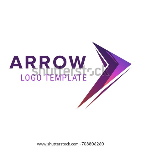 Arrow logo template. Abstract business logo icon design template with arrow