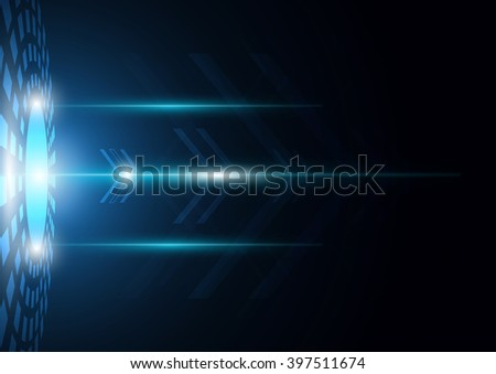 Arrow  move shape ,Technology background,blue abstract vector design