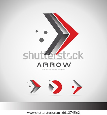 Arrow moving forward concept logo icon design blue grey silver circle dots dotted corporate business