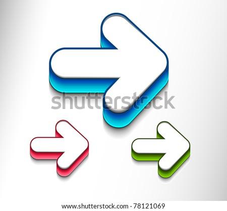 arrow moving icon set. Vector icon design.