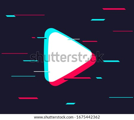Arrow play futuristic background. Motion design. Social media Tik Tok concept. Vector illustration. EPS 10