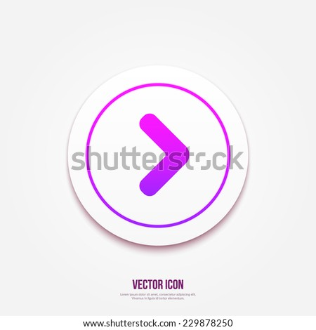 Arrow point pointing right icon   button